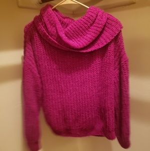 Express pink turtle neck sweater